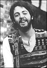 One of the photos Paul McCartney released to the press upon announcing that he was leaving The Beatles.