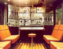 Piano Lounge In Sightseer Car 1980s. Amtrak