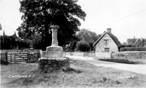 Postcard of Charney, the village cross. No date.