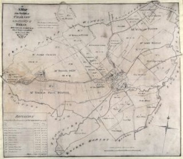 ENCLOSURE MAP CHARNEY BASSETT 1804