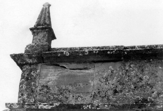 Weathered and cracked stonework