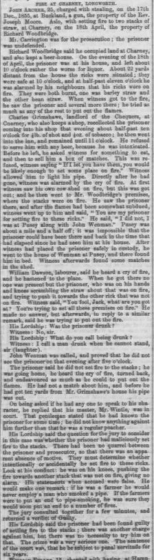 Berkshire Chronicle - Saturday 12 July 1856 Setting fire