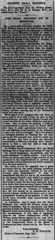 Faringdon Advertiser and Vale of the White Horse Gazette - Saturday 18 September 1909 Small holdings