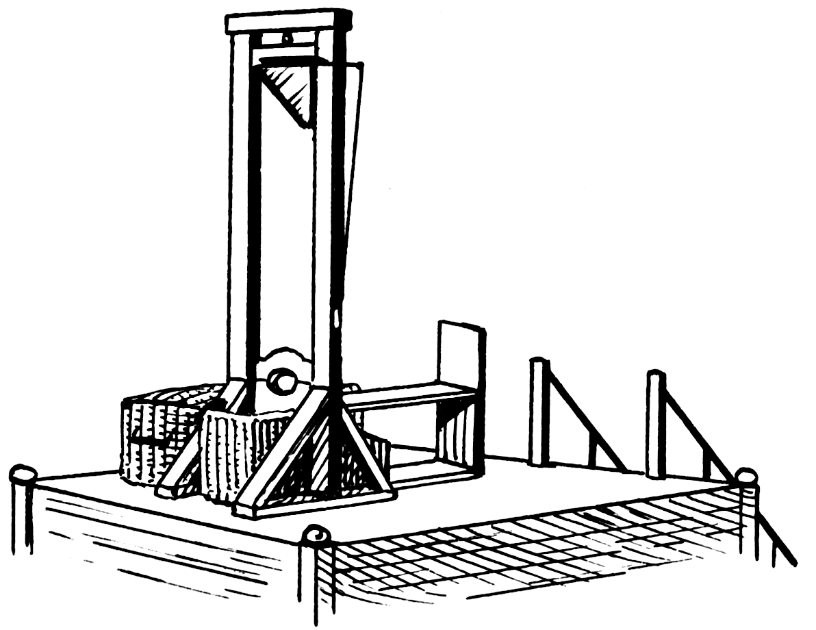 1792: The First Execution by Guillotine during the French