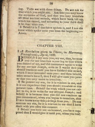 D&C 9 on JosephSmithPapers.org