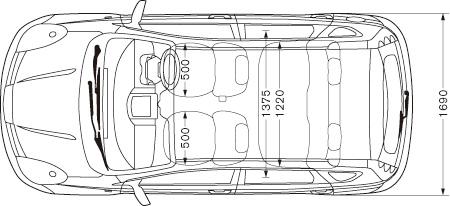 日産:NOTE 車体寸法