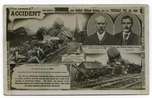 1909 railway accident postcard. Courtesy Mike Esbester.