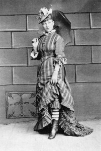 A fashionably-dressed German prostitute, 1880.