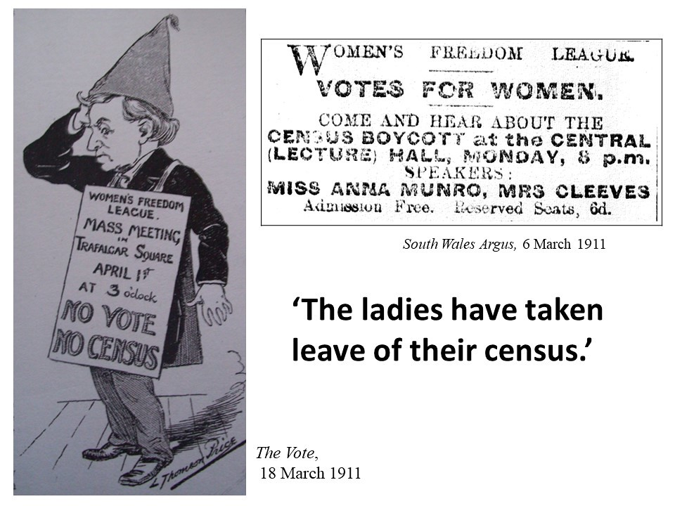 The South Wales Argues reports on the Women's Freedom League mass meeting on the 3 April 1911