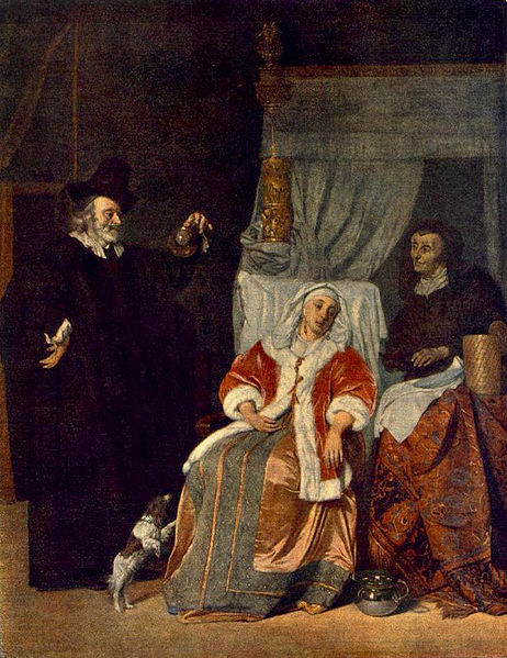 Gabriel Metsu, The visit from the doctor, 1660-7, Hermitage Museum