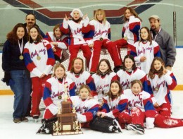 """Calgary Petite """"AA"""" STORM, the Gold Medalists in the Christmas Classic Tournament"""
