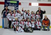 """Novice """"A"""" NW Ice Breakers - won the Medicine Hat Tournament Novice Division"""