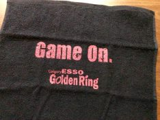 All Participants received a custom imprinted Esso Golden Ring skate towel