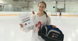 "Justine Exner was named ""CTV's Athlete of the Week"" in February"