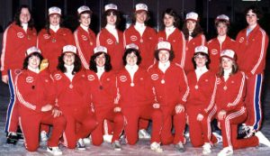 1981-1982 Belle Rep Team Back Row (L to R) - Beth Little (coach), Kari Howel, Jackie Willis, Mary Ellen Johnson, Michele Travis, Audry Van Os, Sue Chudleigh, Laurie Smith, Linda Tippin (coach) Front Row (L to R) - Laurie Moore, Kim Cramm, Jody Heywood, Carmen Bell, Maureen Hans, Heather Grantham, Terry Crouse