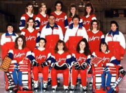 1990 Canadian Ringette Champions - Calgary Junior Cruzers