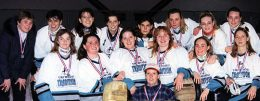 TRIWOOD TRADITION 1994-95 Back Row: Laura Webb (coach), Cindy Barclay, Mel Smith, Cheryl Babin, Megan Jasper, Selene Munro,Tara Brown, Jackie Kitella Front: Corinne Hagel, Liz Plummer, Shannon Mabley, Laureen Currie, Sunday Jarret, Monique Van Laar. Lower front: Dawn McLean