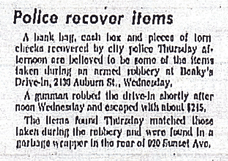Police Recover Items
