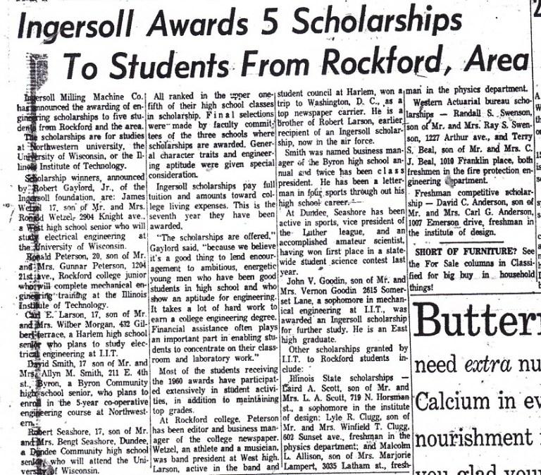 Ingersoll Scholarships