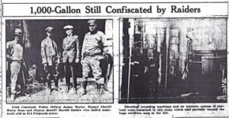 Prohibition – 1,000 Gallon Still – RPL's Local History