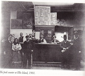 The Food Counter at Ellis Island, 1901