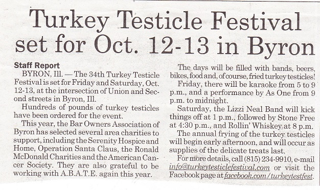 Turkey Testicle Fest