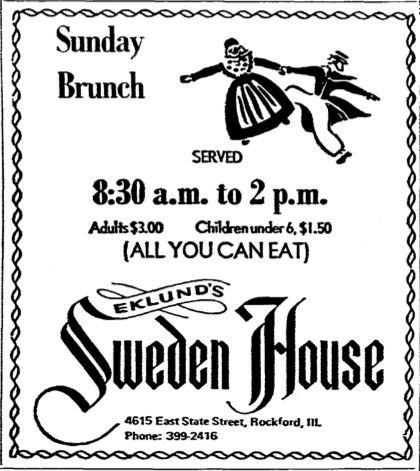 Sweden House Sunday Brunch