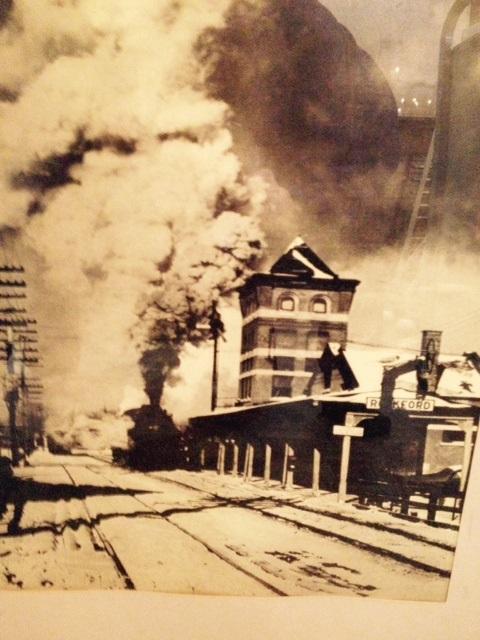 Framed train photo