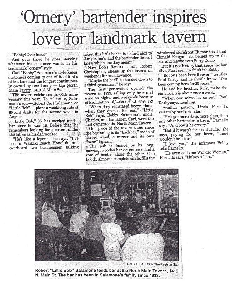 No. Main Tavern - 2