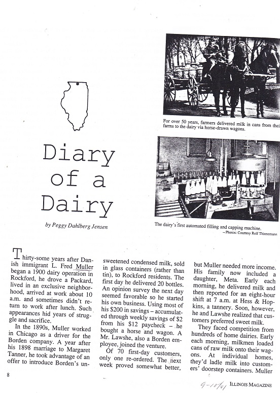 Diary of a Dairy - 1