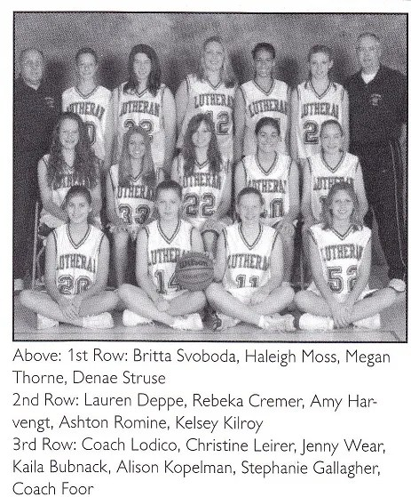 R Lutheran girls BB team