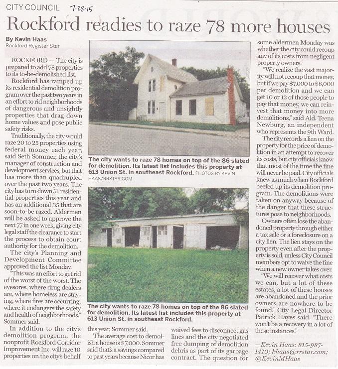 Houses razed