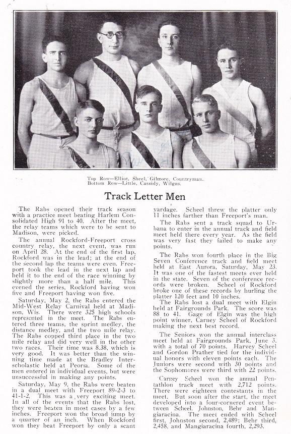 RHS 1926 Track Letter Men