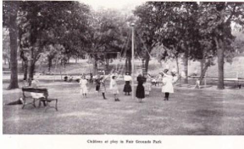 Children Play at Fair Grounds