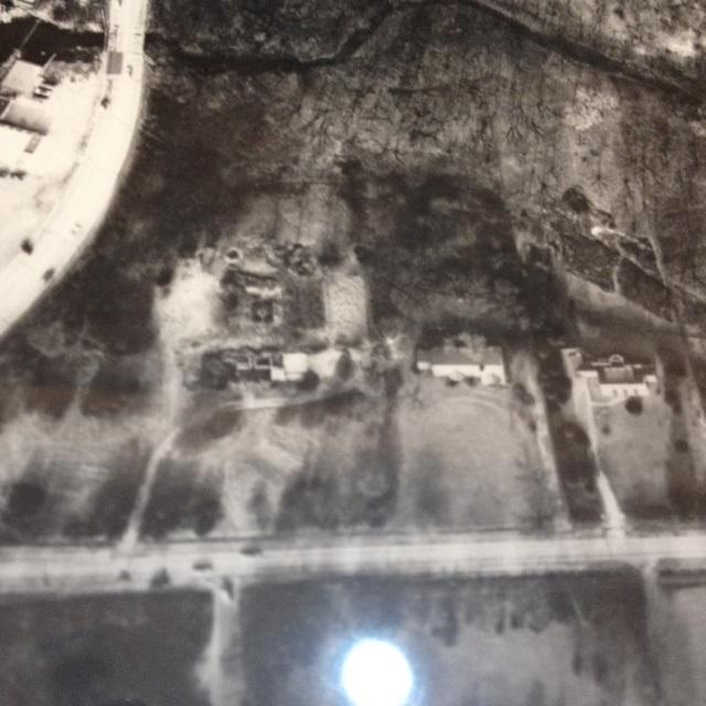 Hall House 1953 aerial