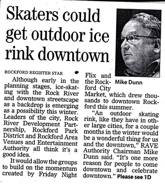 Outdoor ice-skating