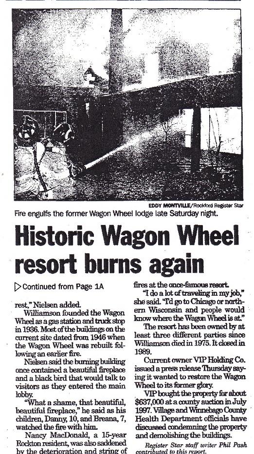 Wagon Wheel burns again - 2