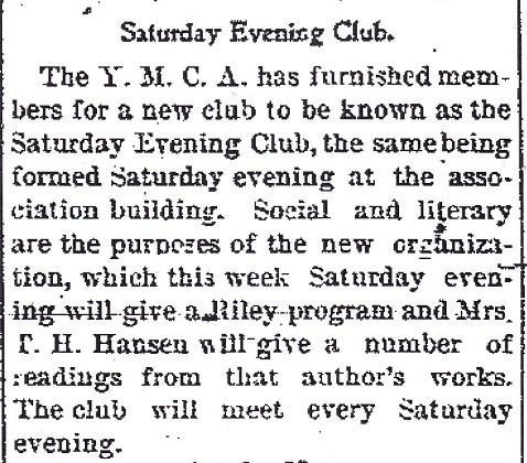 Saturday Evening Club