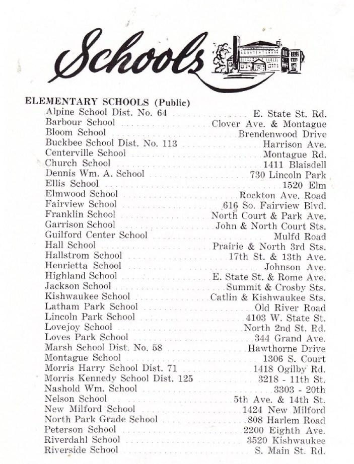 Schools 1956