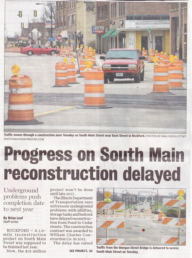 Progress on So. Main
