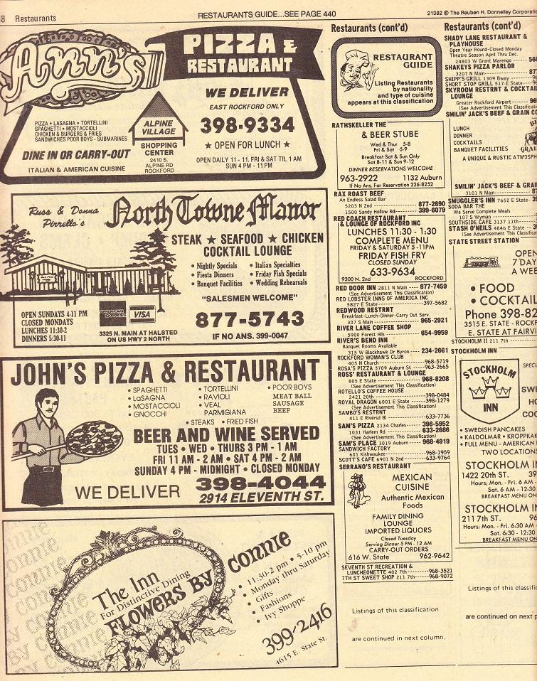 Restaurants p 438
