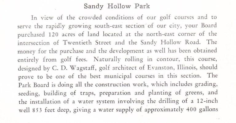 Sandy Hollow golf