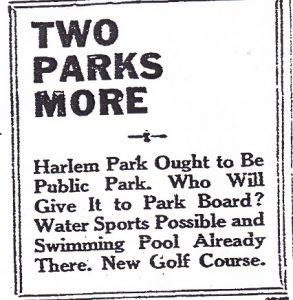 Harlem Park 1926