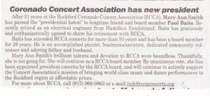 RCCA new president