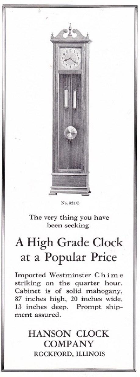 Hanson Clock Nov