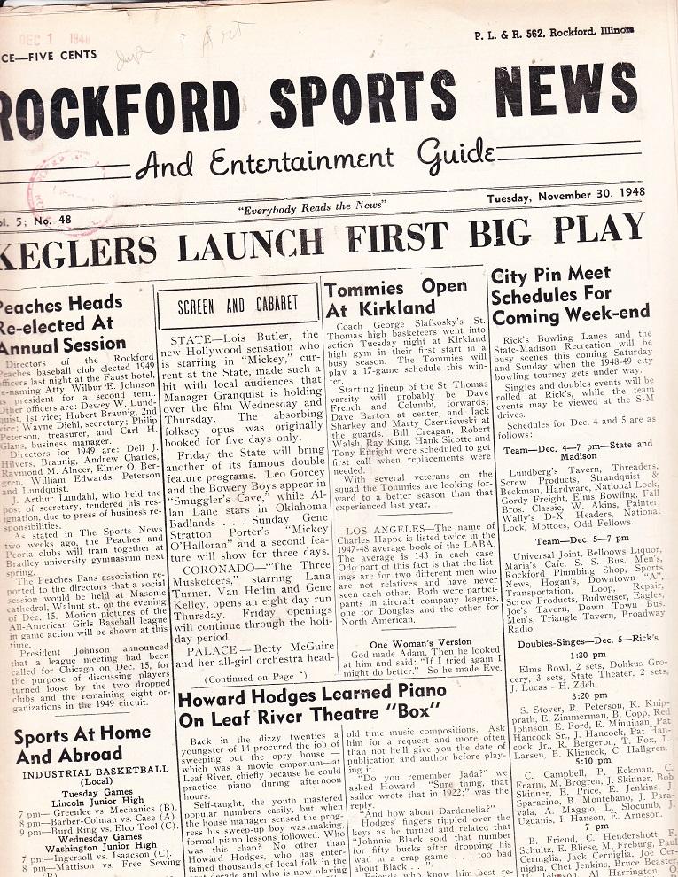 Rockford Sports 11-30-48