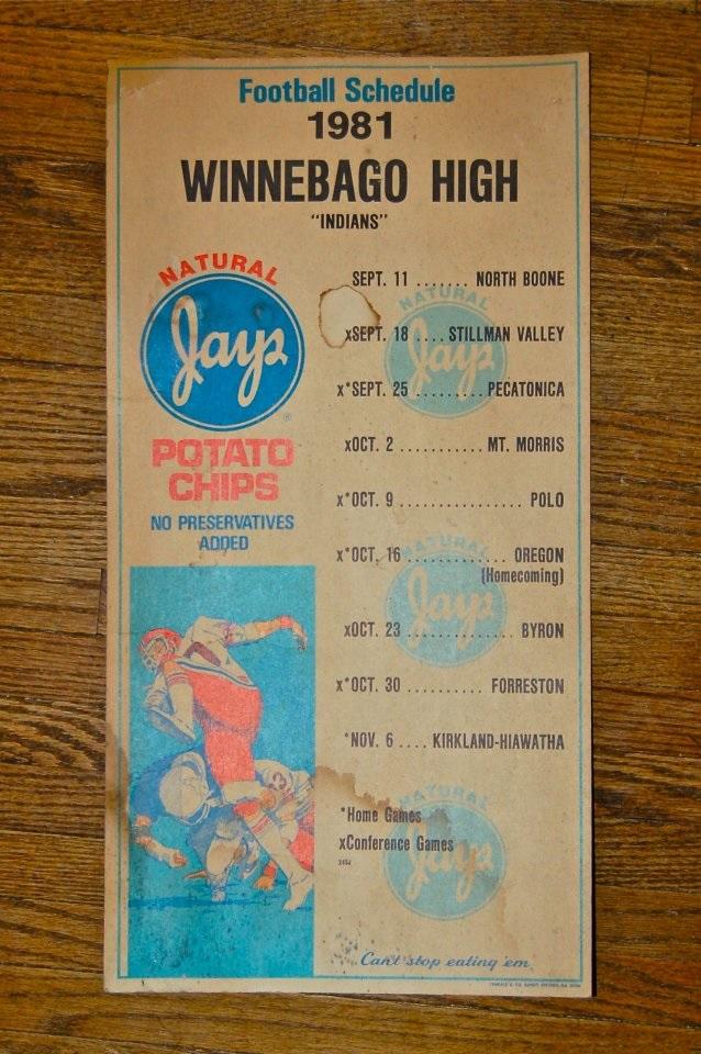 Winnebago High School 1981 Football Schedule