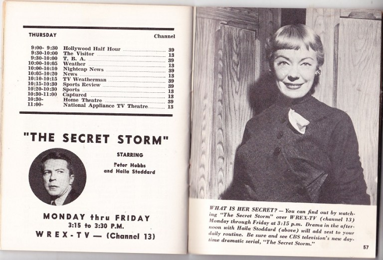 """Graphic"""" magazine, Rockford TV news (monthly) 1953-4 – RPL's Local"""