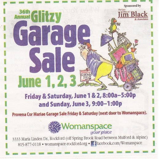 womanspace-Glitzy-garage-sale