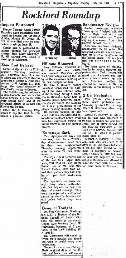 Rockford Roundup – July 10, 1964